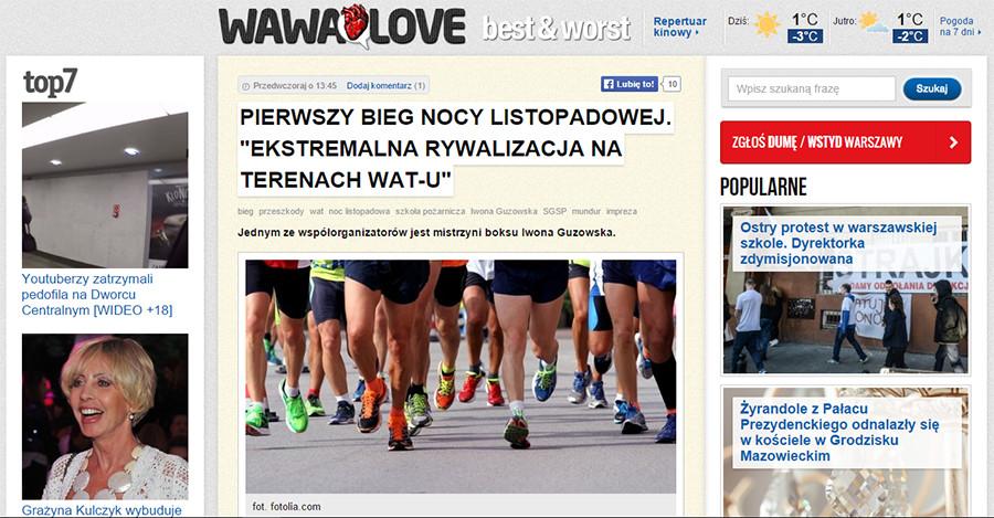 wawalove.pl o biegu